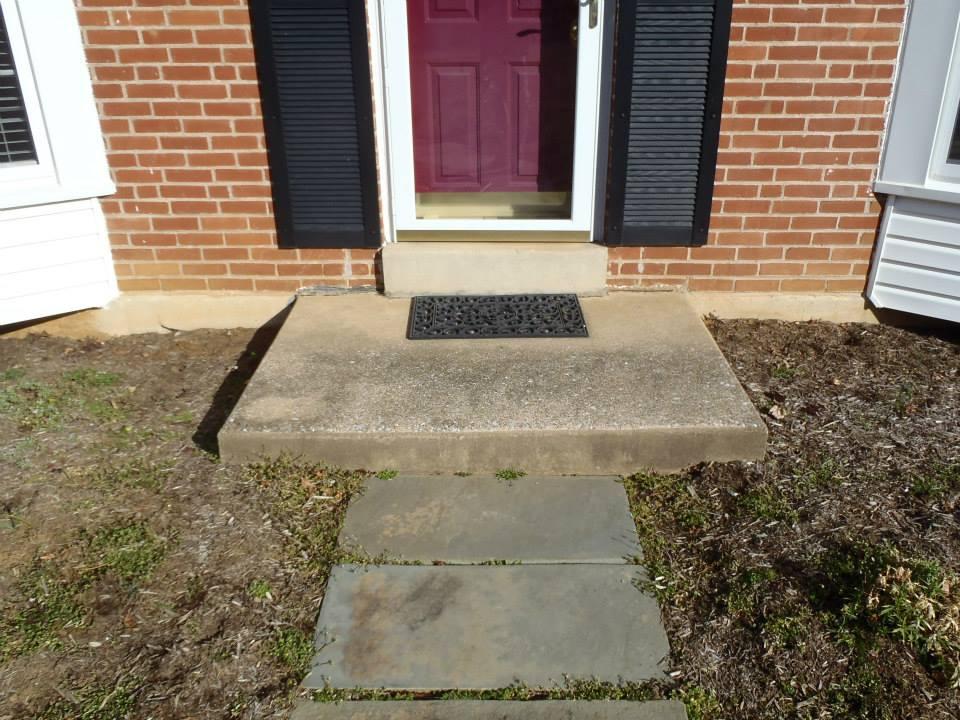 Front Step Before Construction | JBP Landscape Contractors