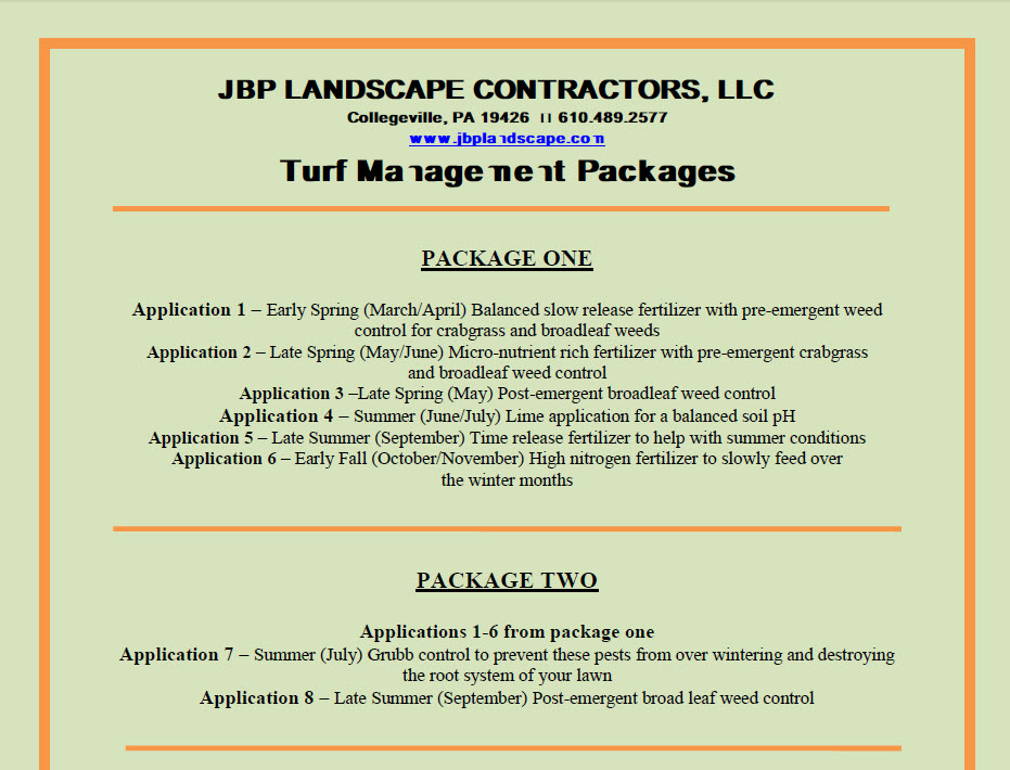 Turf Management Packages