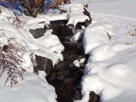Fountain in Snow Collegeville