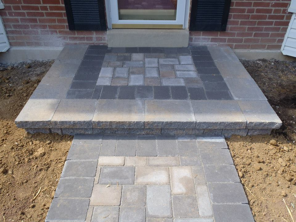 Front Step Pavers | JCP Landscape Contractors