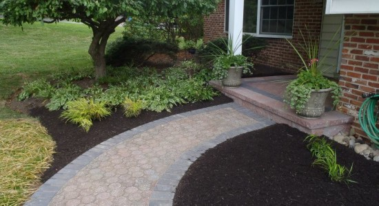 Home Entrance Hardscape | JBP Landscape Contractors