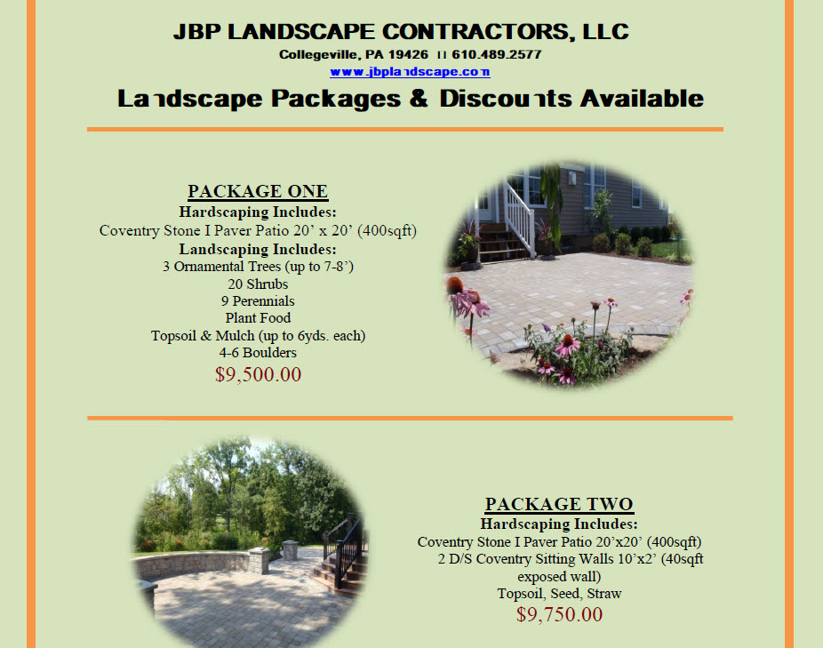 Landscaping Packages Available